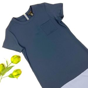 Adrienne Vittadini Color Block Shift Dress Size 6